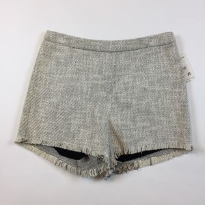 NEW Free People Black White Tweed Shorts Small O13